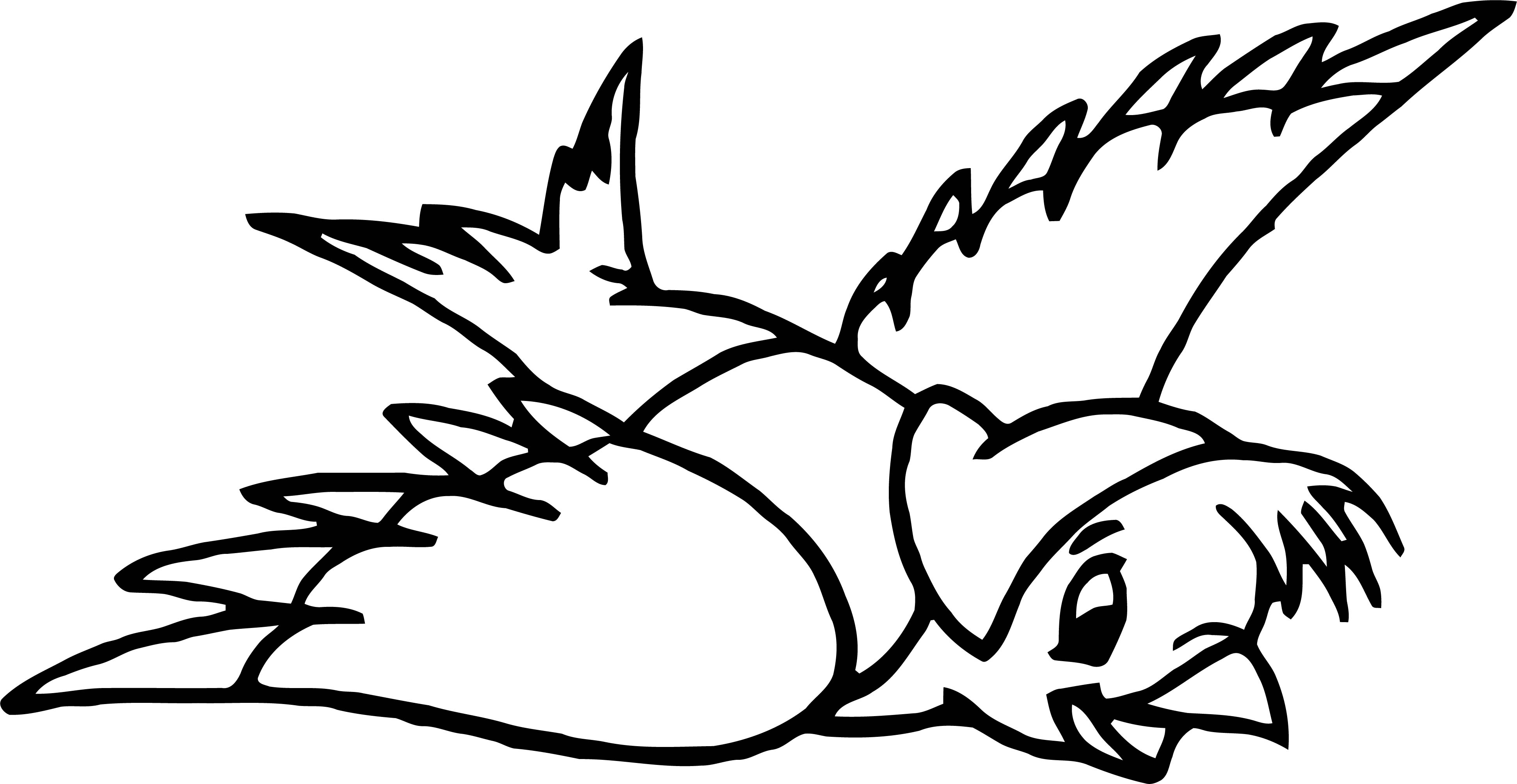 Flying Bird Jas Gus Coloring Pages