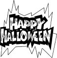 Free Halloween Happy Halloween Coloring Page