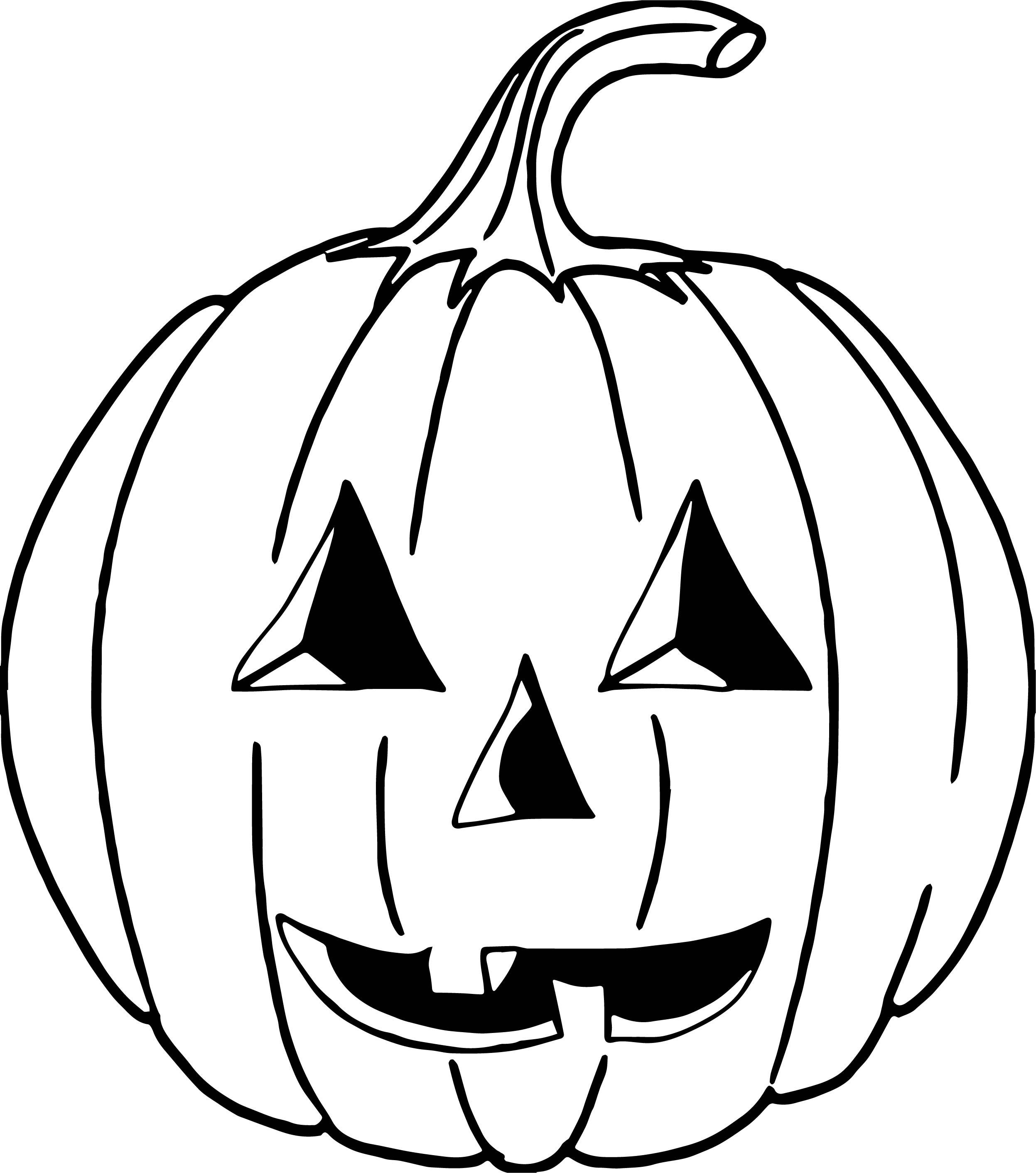 Friendly Looking Halloween Pumpkin Or Jack O Lantern Coloring Page