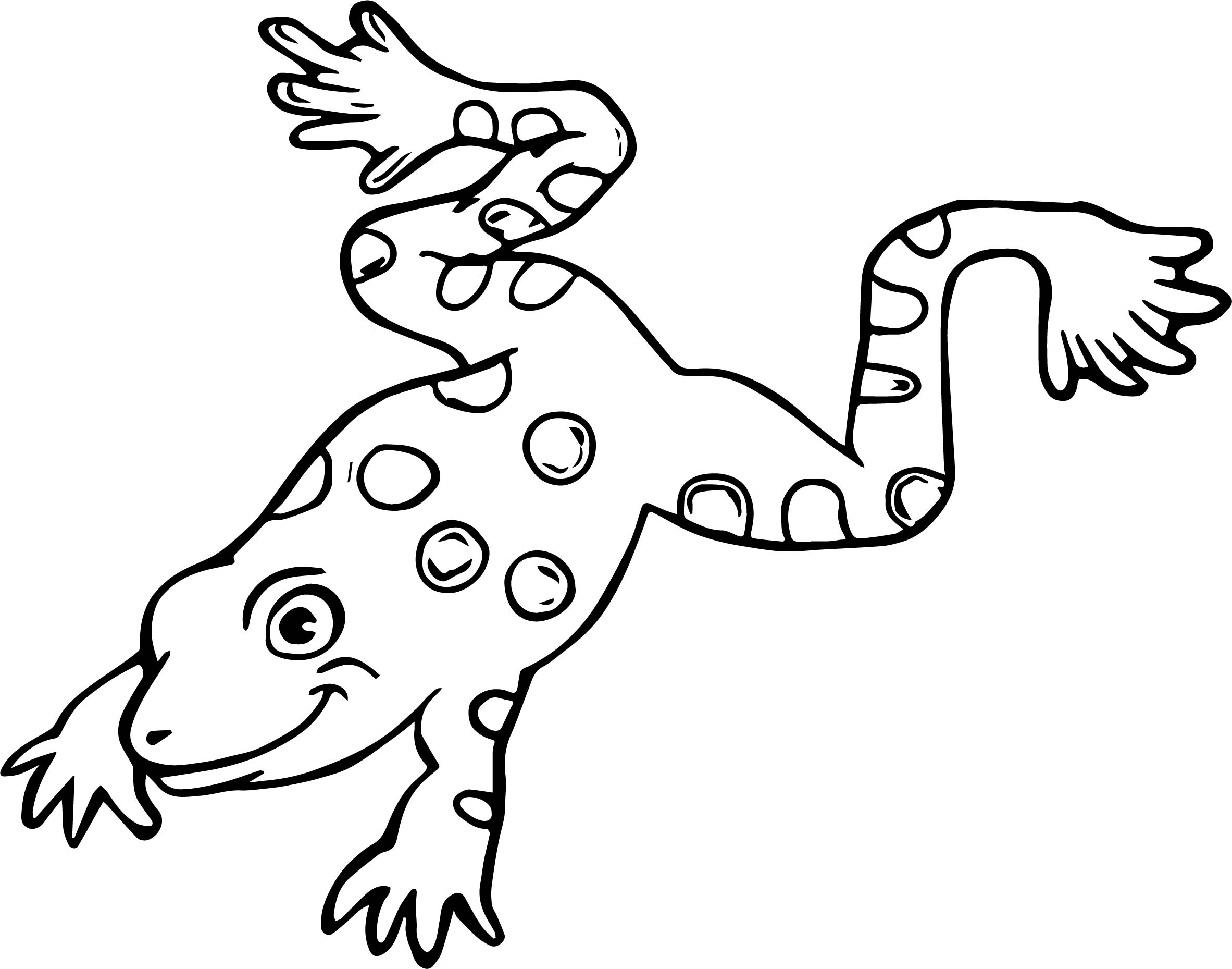 Frog Coloring Page 096