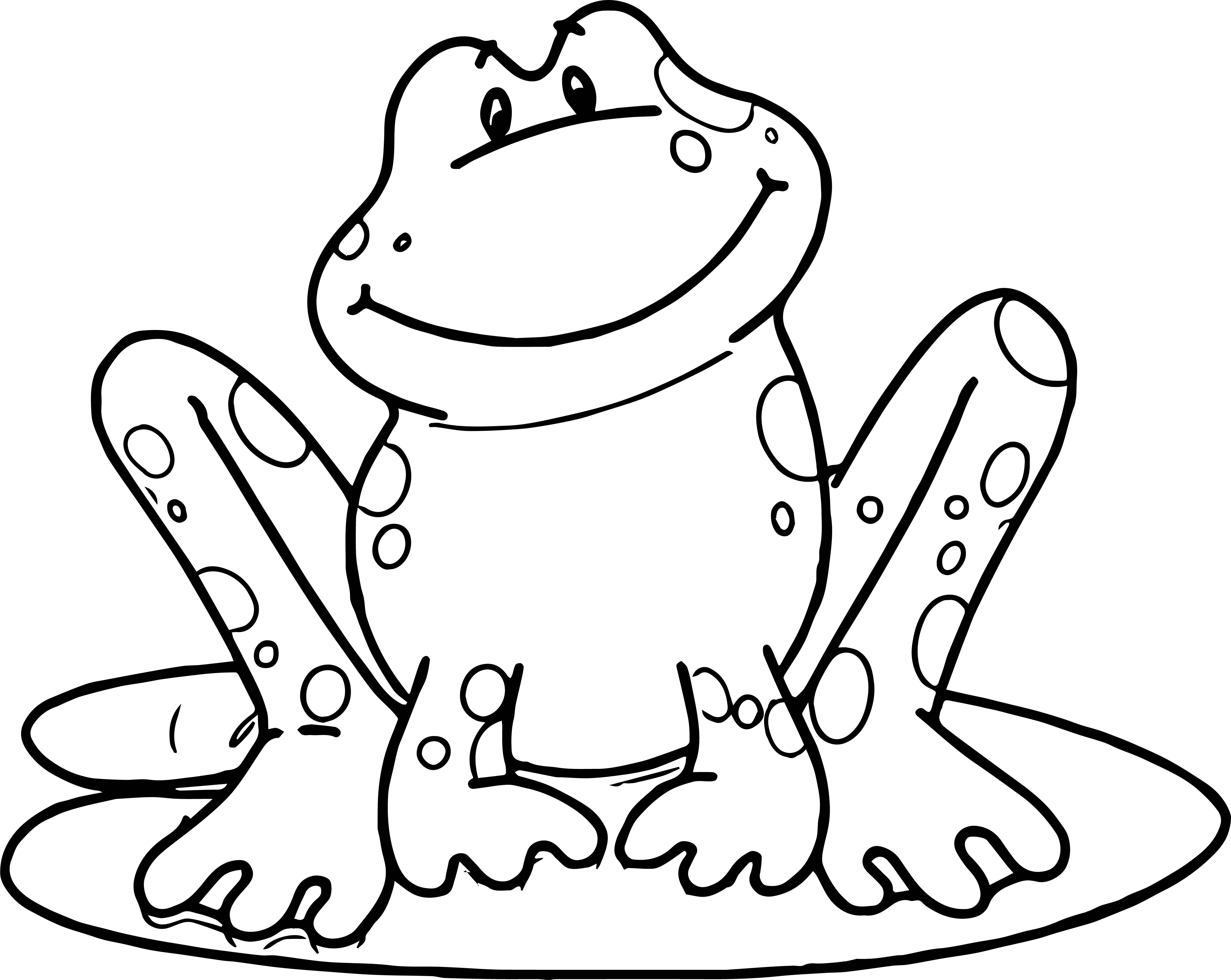 Frog Stay Coloring Page