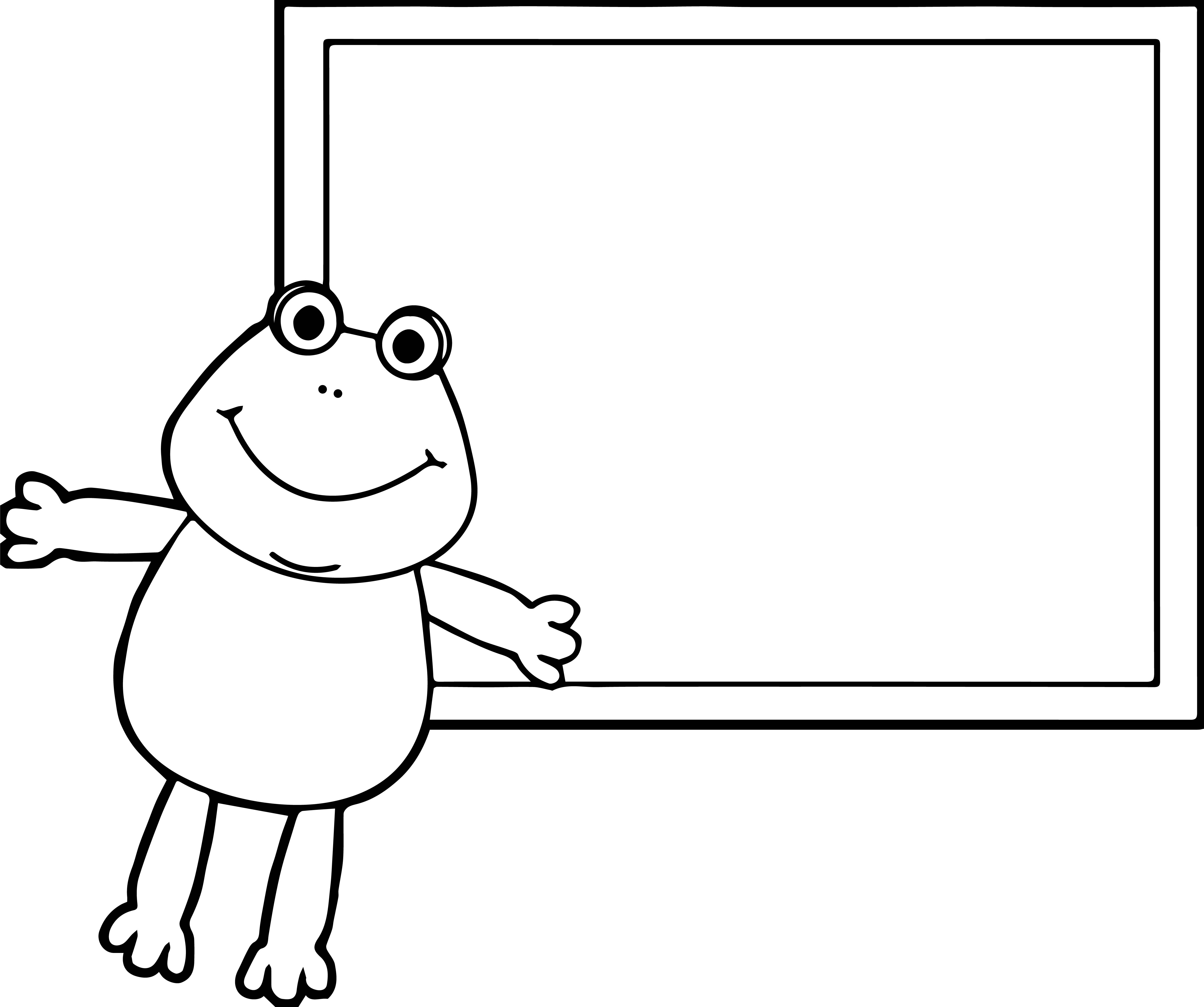 Frog Table Coloring Page