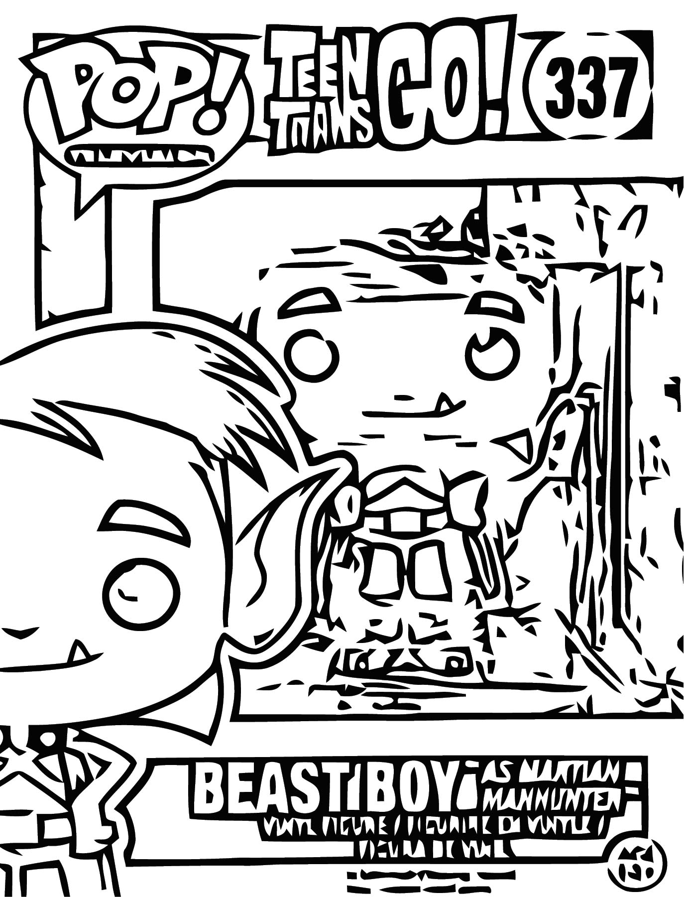 Funko Pop Teen Titans Go Beast Boy As Martian Manhunter Coloring Page