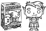 Funko Pop Television Teen Titans Go Beast Boy As Coloring Page