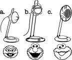 Gibsons Sesame Street Mics Sesame Street Coloring Page