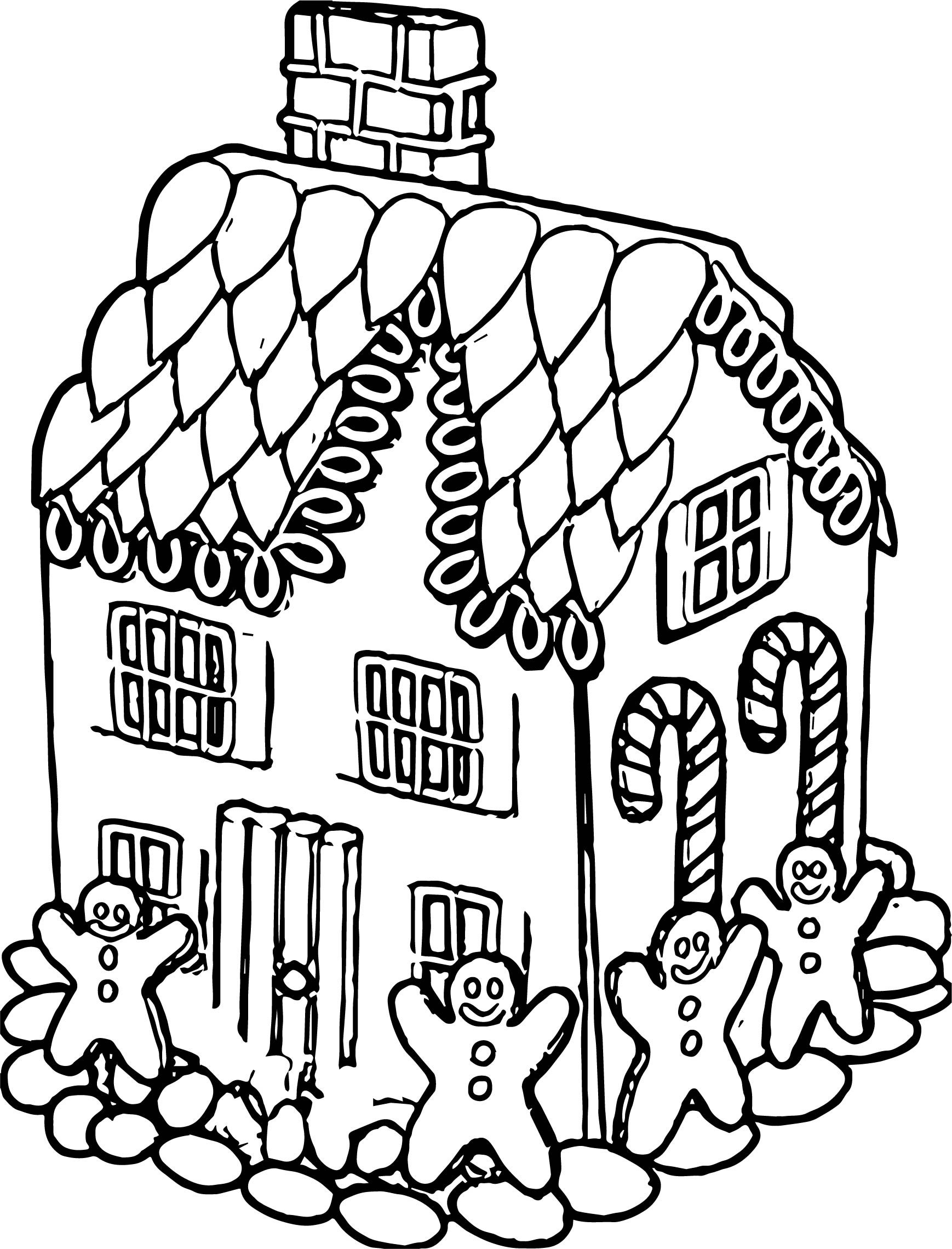 Ginger Bread House Gingerbread House Coloring Page