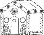 Gingerbread Candy House Gingerbread House Coloring Page