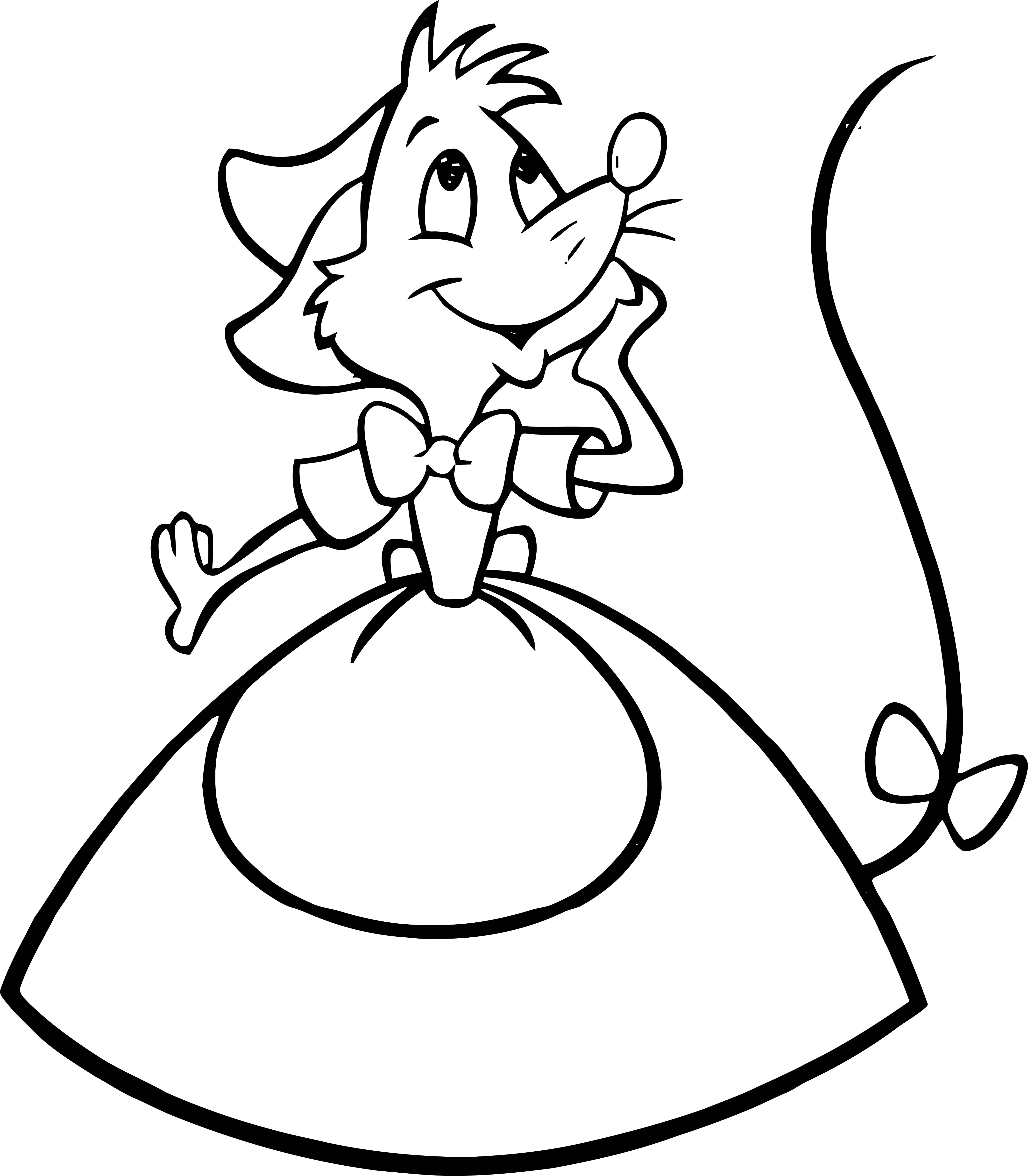 Girl Mice Mouse Coloring Pages