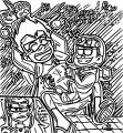 Gizmo X Robin Tickleee Teen Titans Go Coloring Page