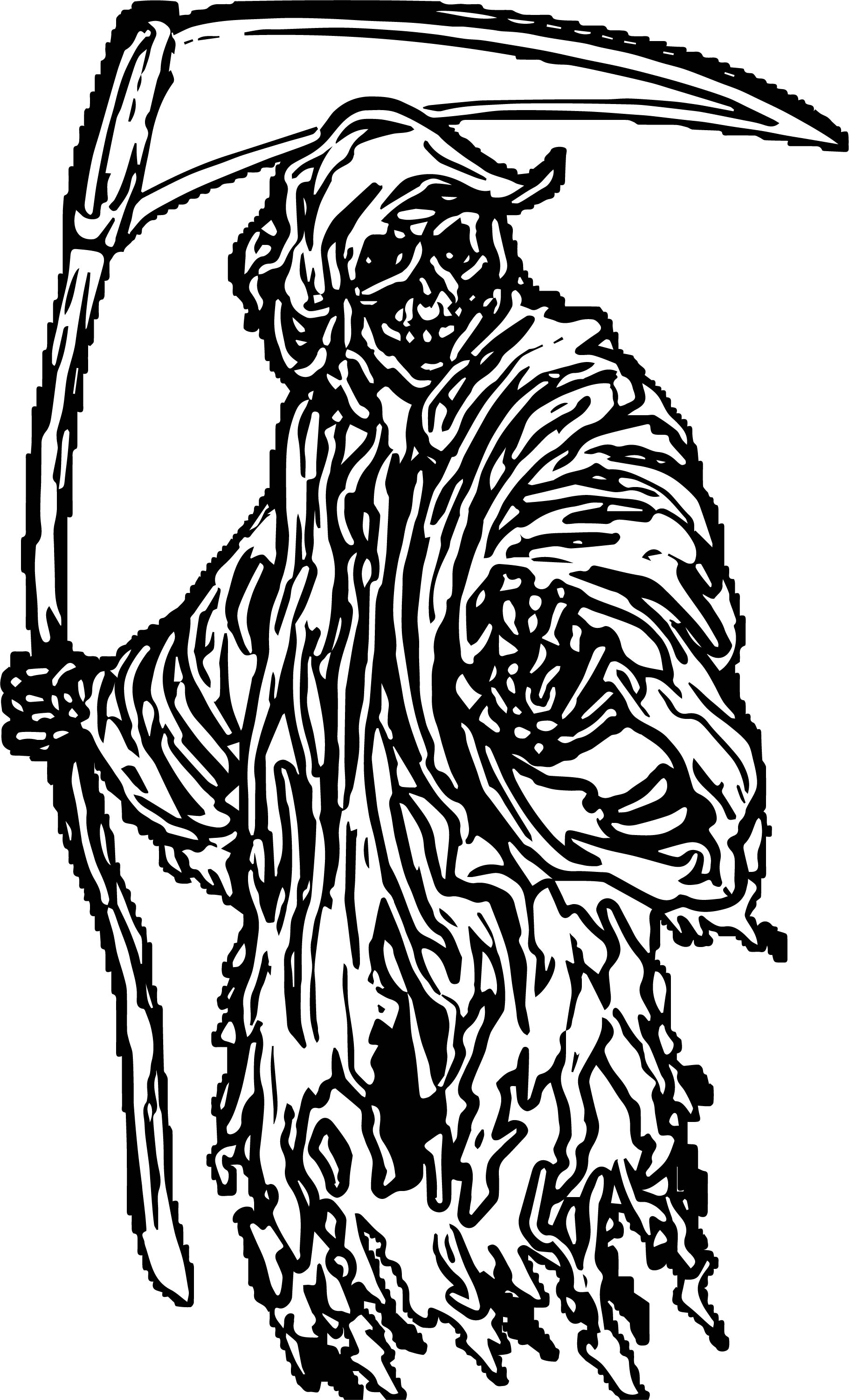 Grim Reaper Halloween Coloring Page