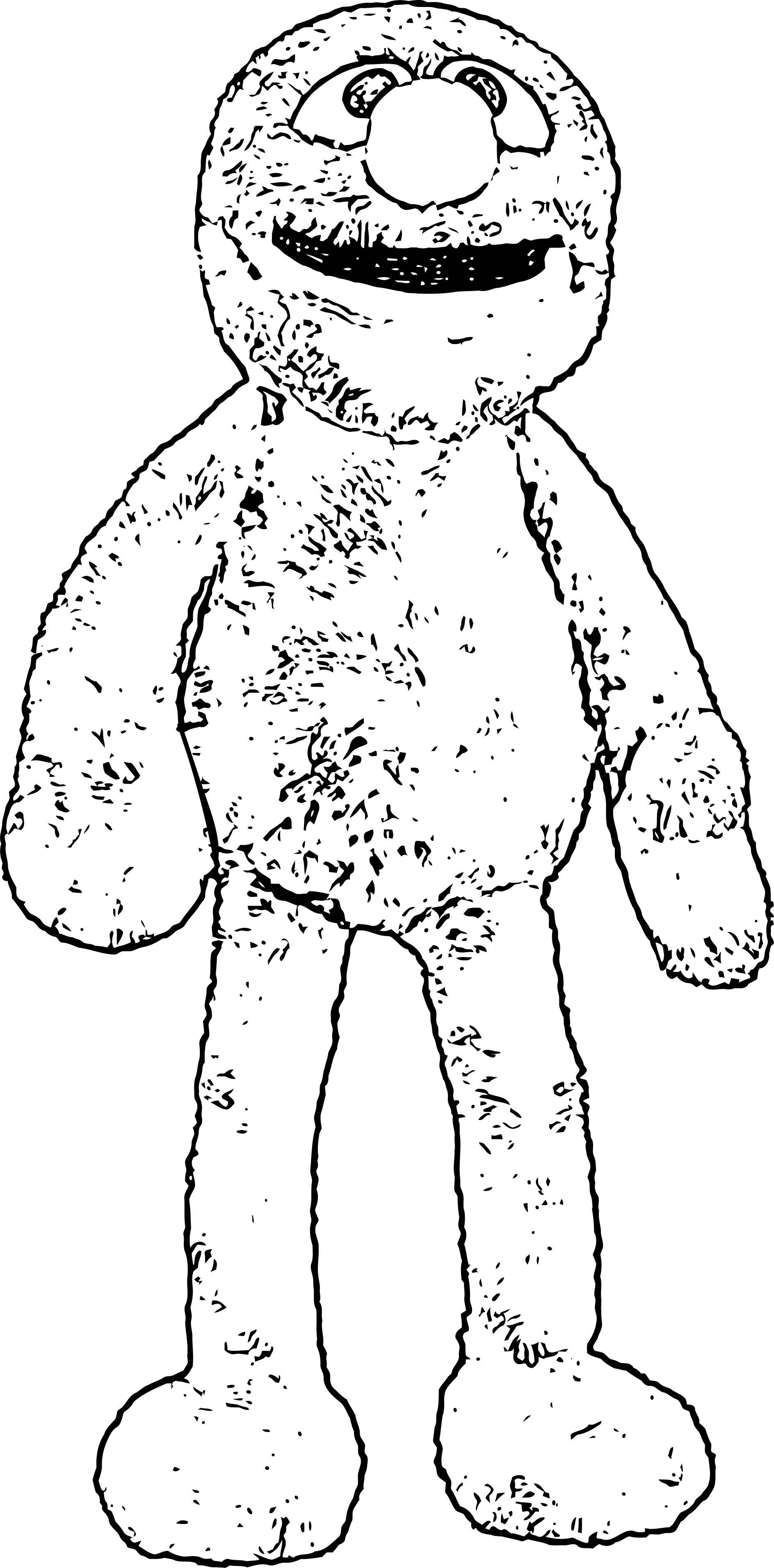 Grover Sesame Street Coloring Page