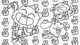 Gumball Anais Darwin Background Coloring Page