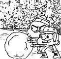 Gumball Darwin Snowball Coloring Page