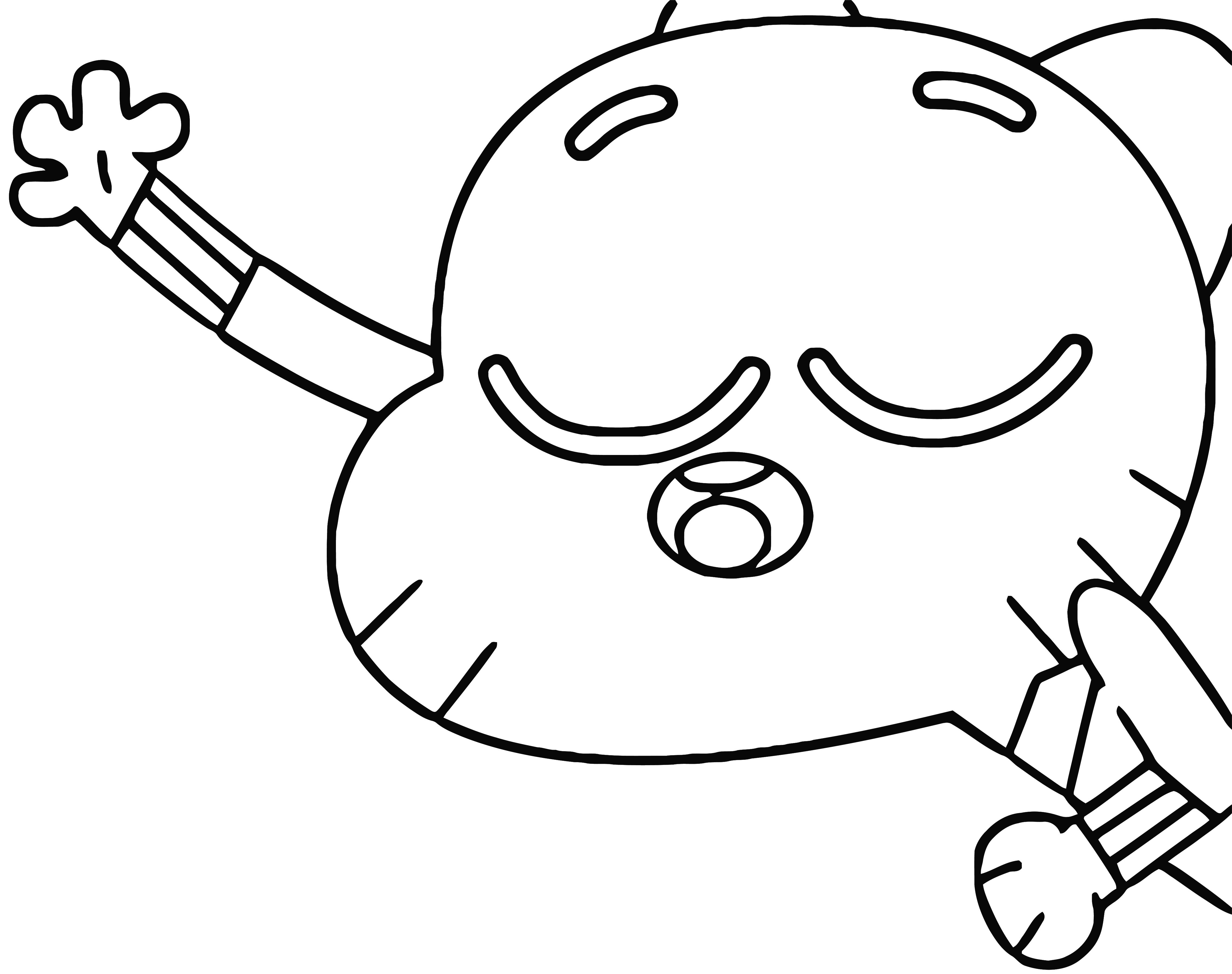 Gumball Money Bath Without The Money Coloring Page