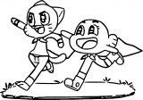 Gumball N Darwin Run Coloring Page