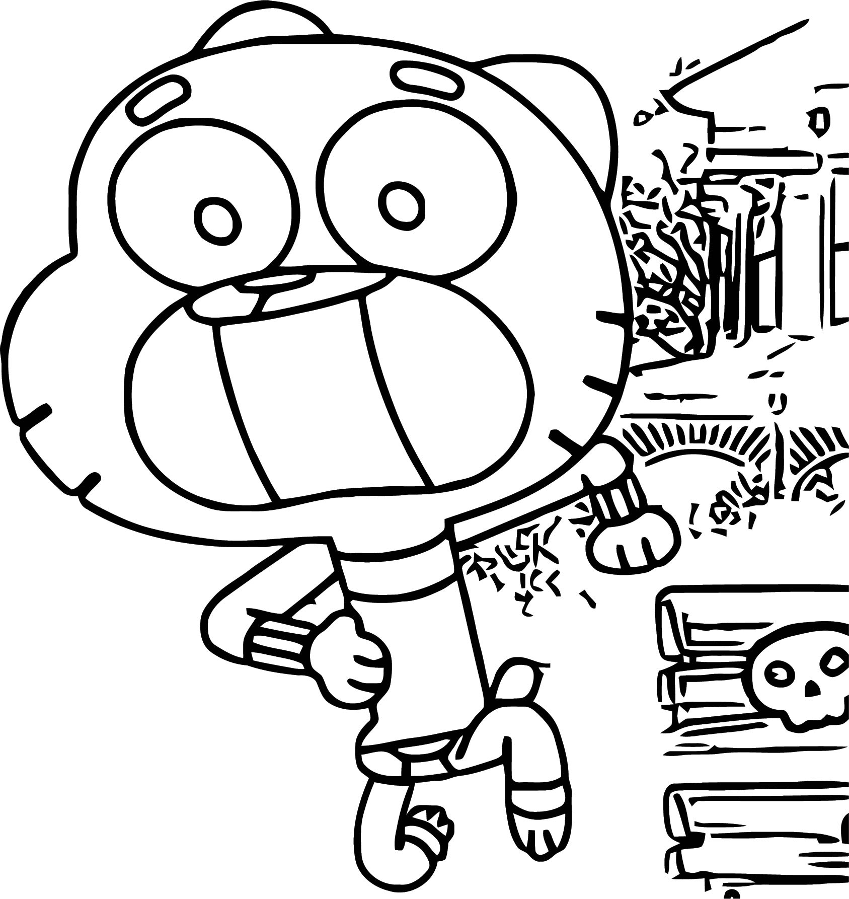 Gumball Run Coloring Page