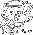 Gumball S New Look The Amazing World Of Gumball Love Boy Coloring Page