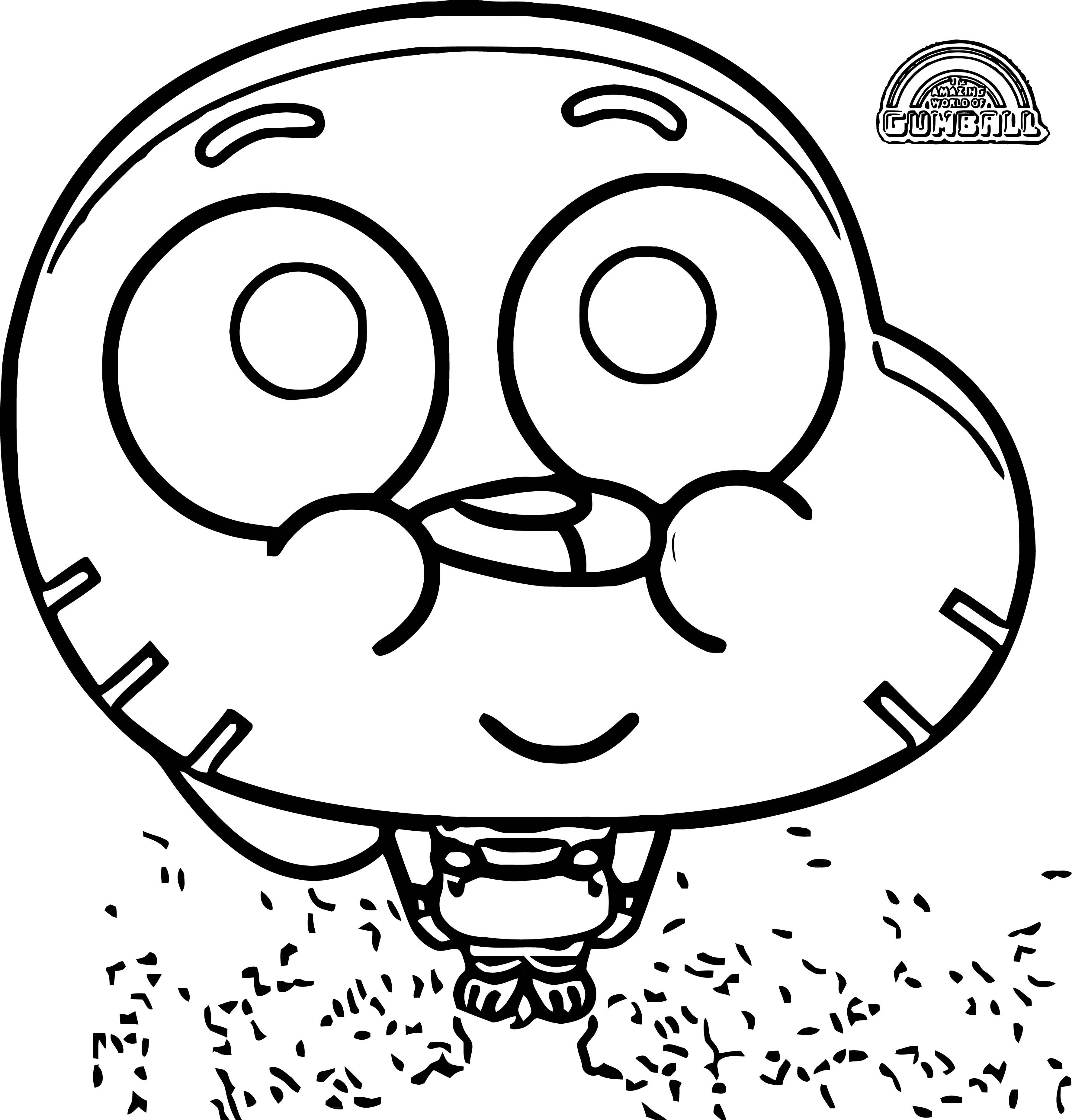 Gumball Small Cute Kid Cat Coloring Page Wecoloringpage Com