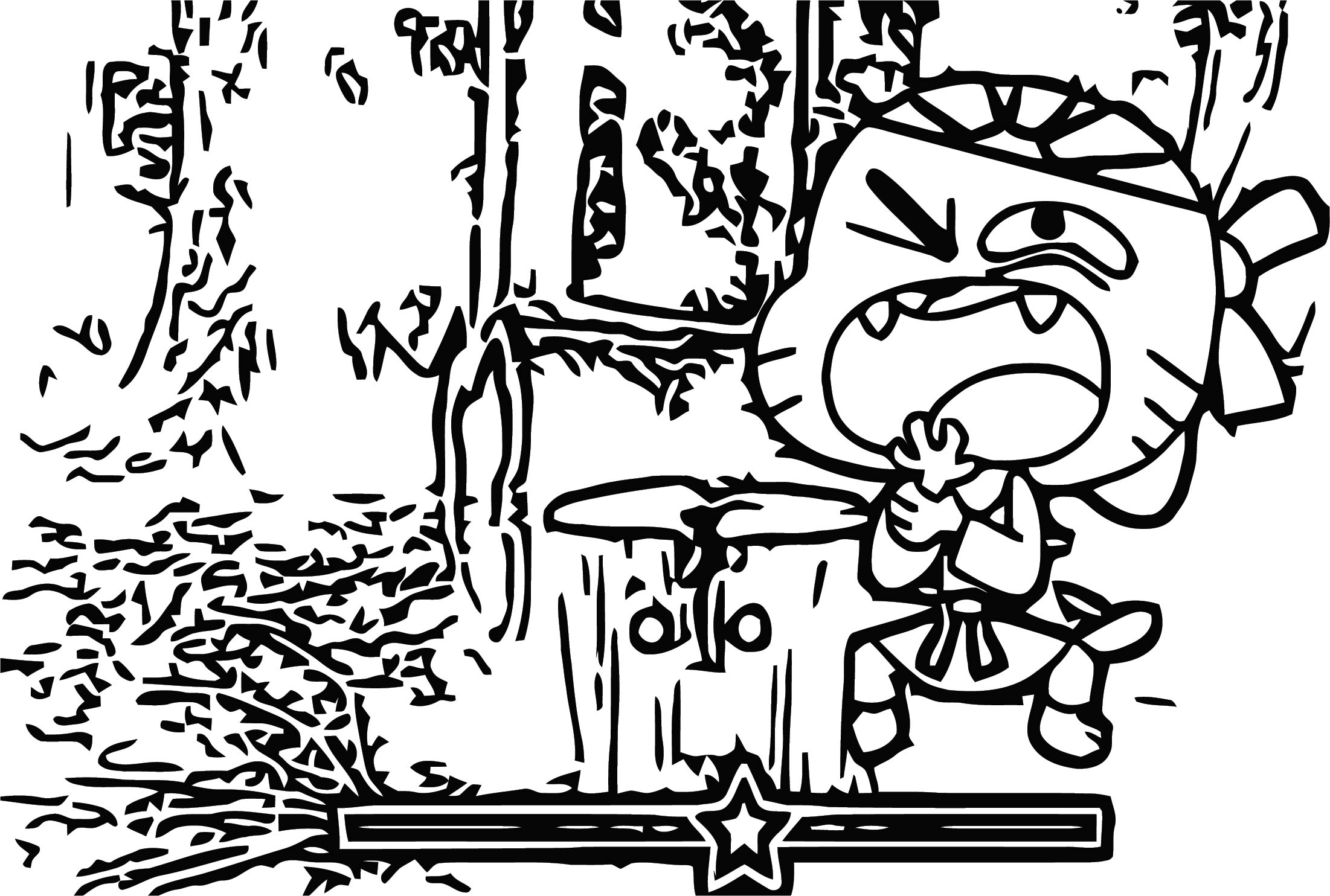Gumball Wood Ache Coloring Page