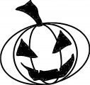 Halloween Angry Smile Pumpkin Coloring Page