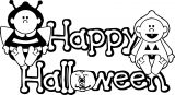 Halloween Baby Text Coloring Page