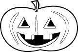 Halloween Cartoon Halloween Coloring Page