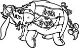 Halloween Donkey Trick Or Treat Coloring Page