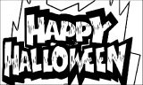 Halloween Happy Halloween Text Coloring Page