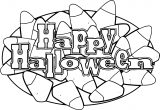 Halloween Happy Halloween Theme Text Coloring Page