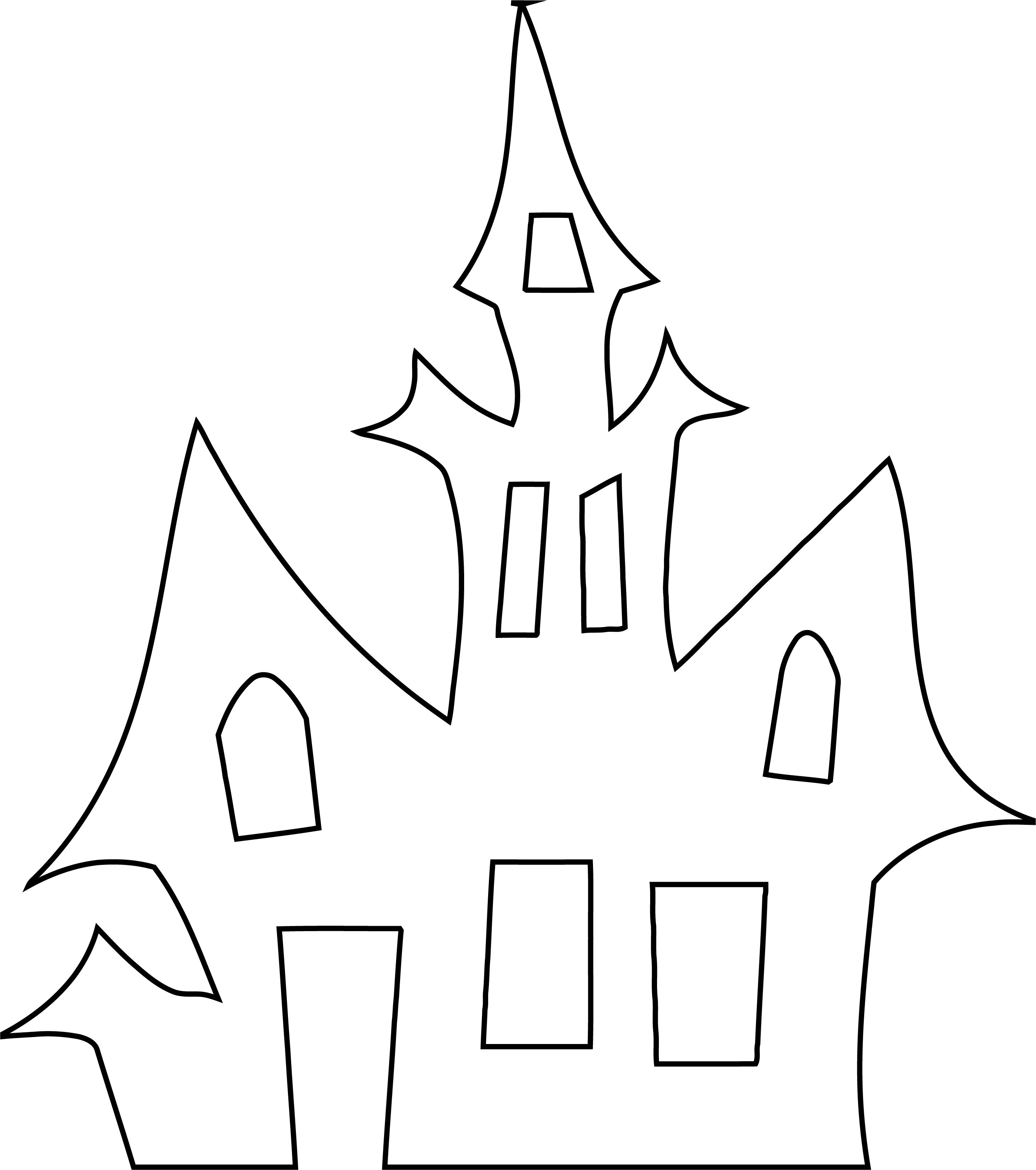 Halloween Outline House Coloring Page