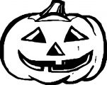Halloween Pumpkin Bold Outline Coloring Page