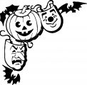 Halloween Pumpkin Face Coloring Page