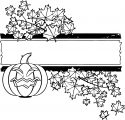 Halloween Pumpkin Flower Theme Coloring Page