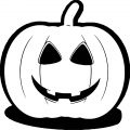 Halloween Pumpkin Style Coloring Page