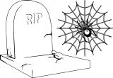 Halloween Rip Coloring Page