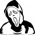 Halloween Scream Face Coloring Page