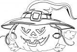 Halloween Sketch Pumpkin Coloring Page