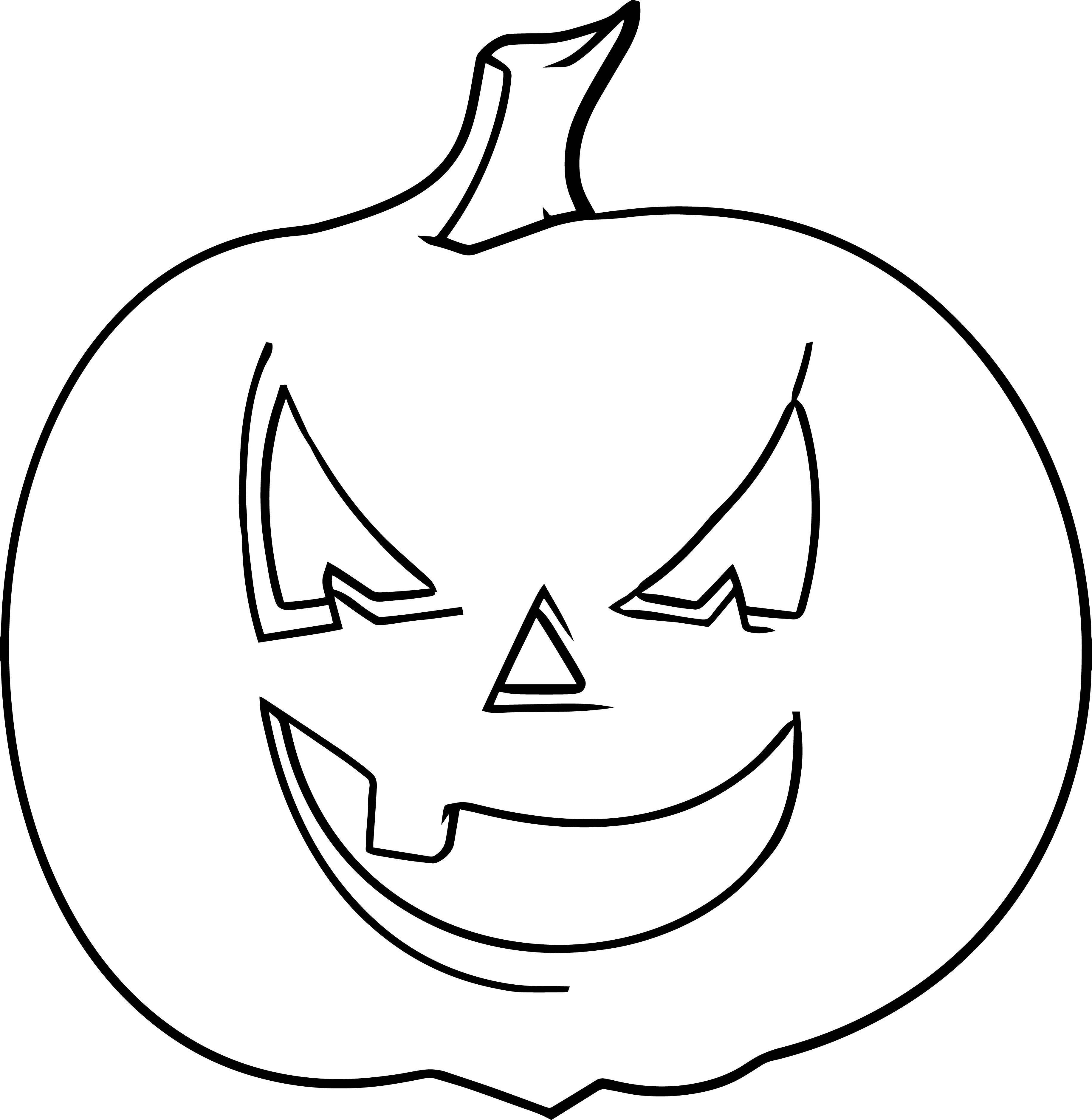 Halloween Smile Pumpkin Coloring Page