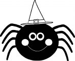 Halloween Spidercartoon Halloween Coloring Page