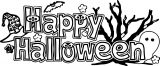 Halloween Text Happy Halloween Coloring Page