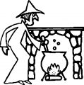 Halloween Witch Food Coloring Page