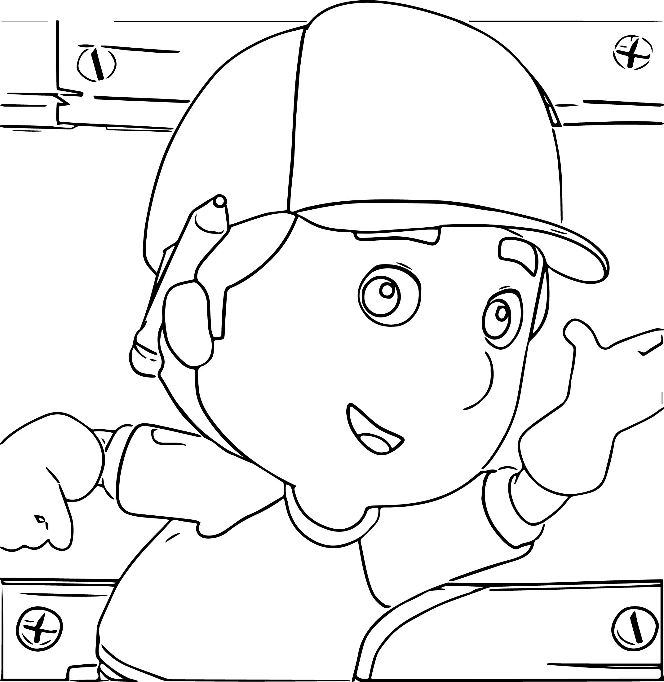 Handy Manny Alright Coloring Page
