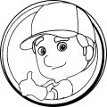 Handy Manny Circle Alright Coloring Page