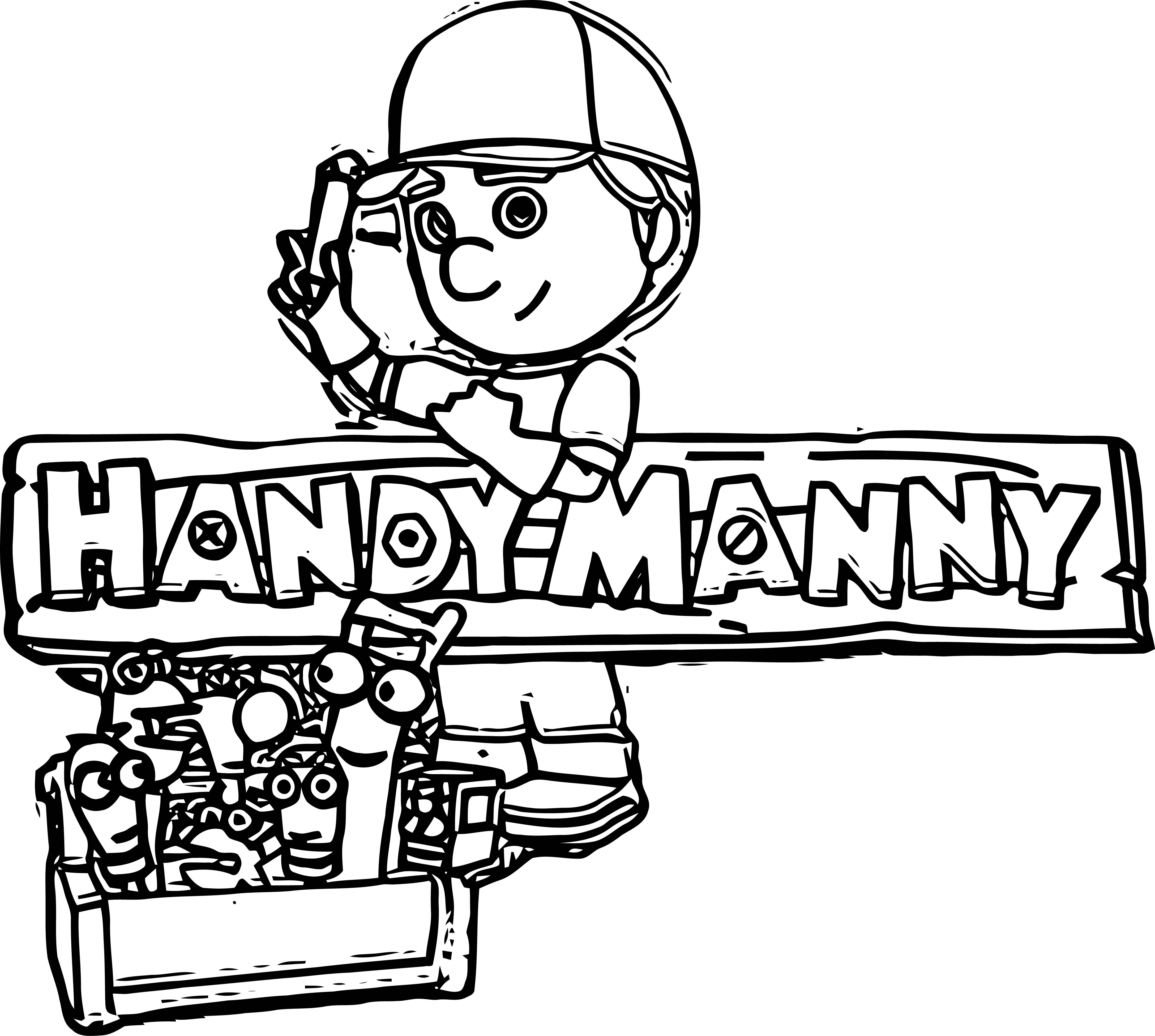 Handy Manny Coloring Page 02
