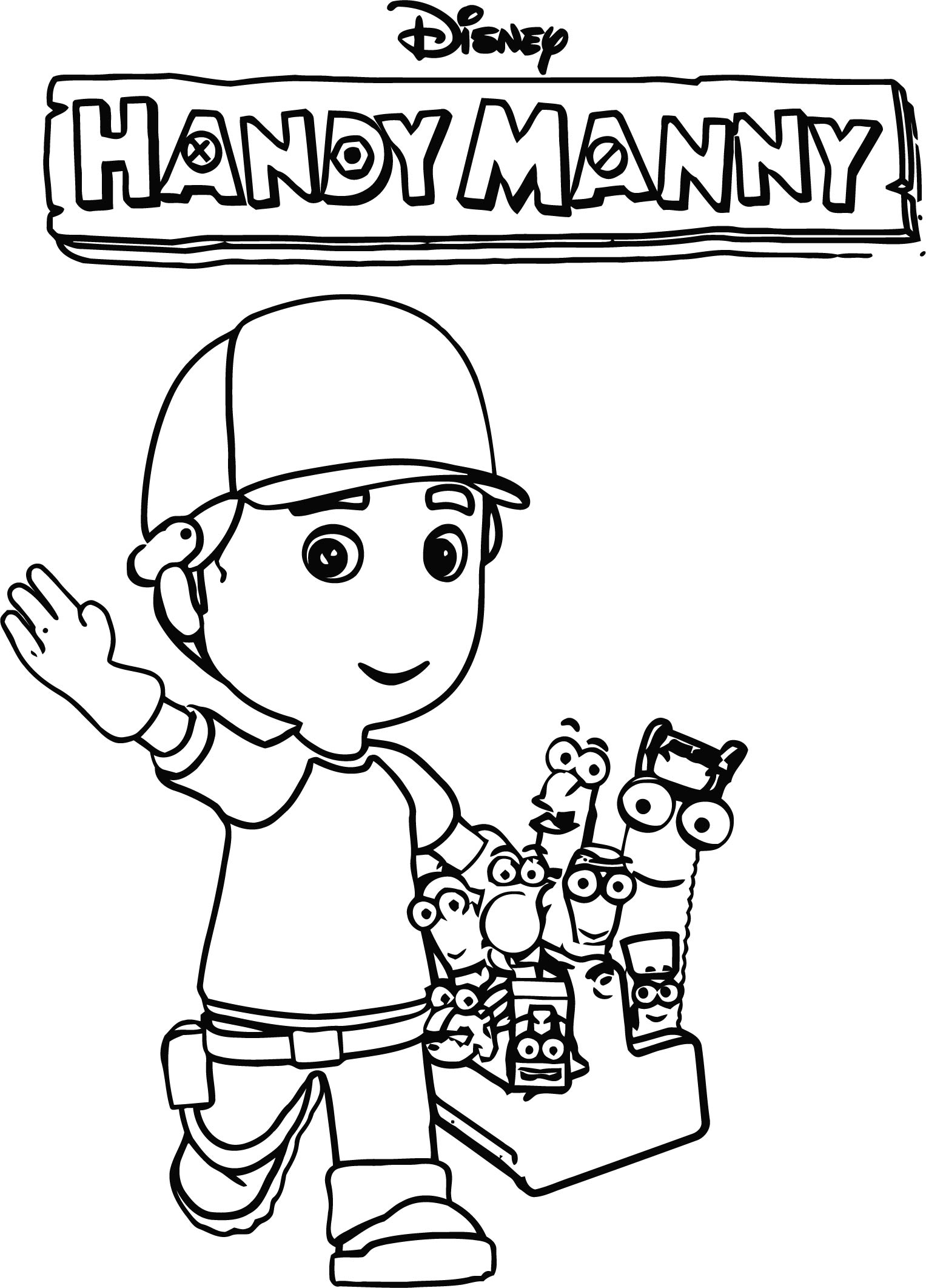 Handy Manny Coloring Page 03