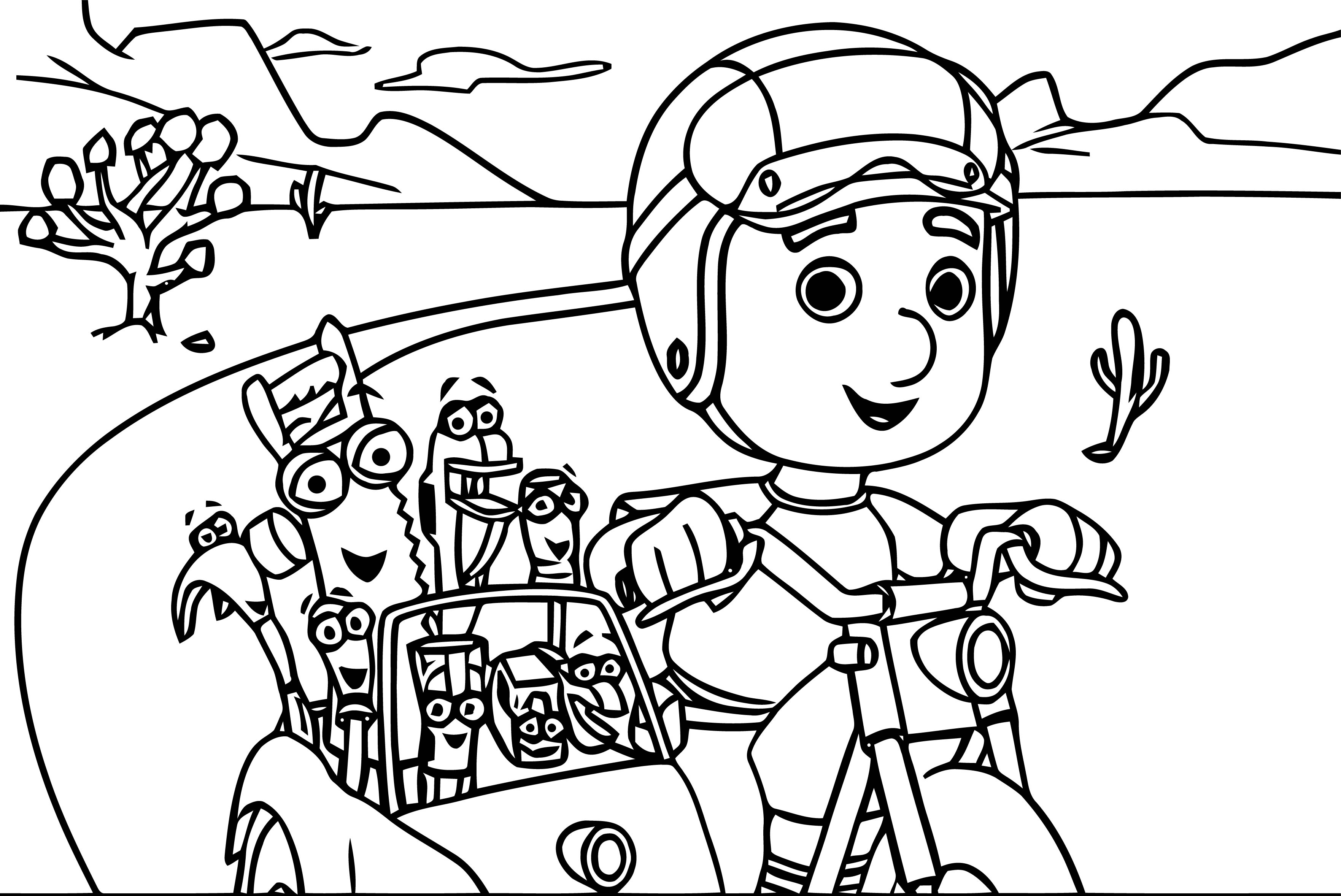 Handy Manny Motorcycle Adventure E Coloring Page