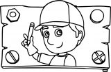 Handy Manny Wood Sign Coloring Page