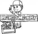 Handy Manny Work Coloring Page