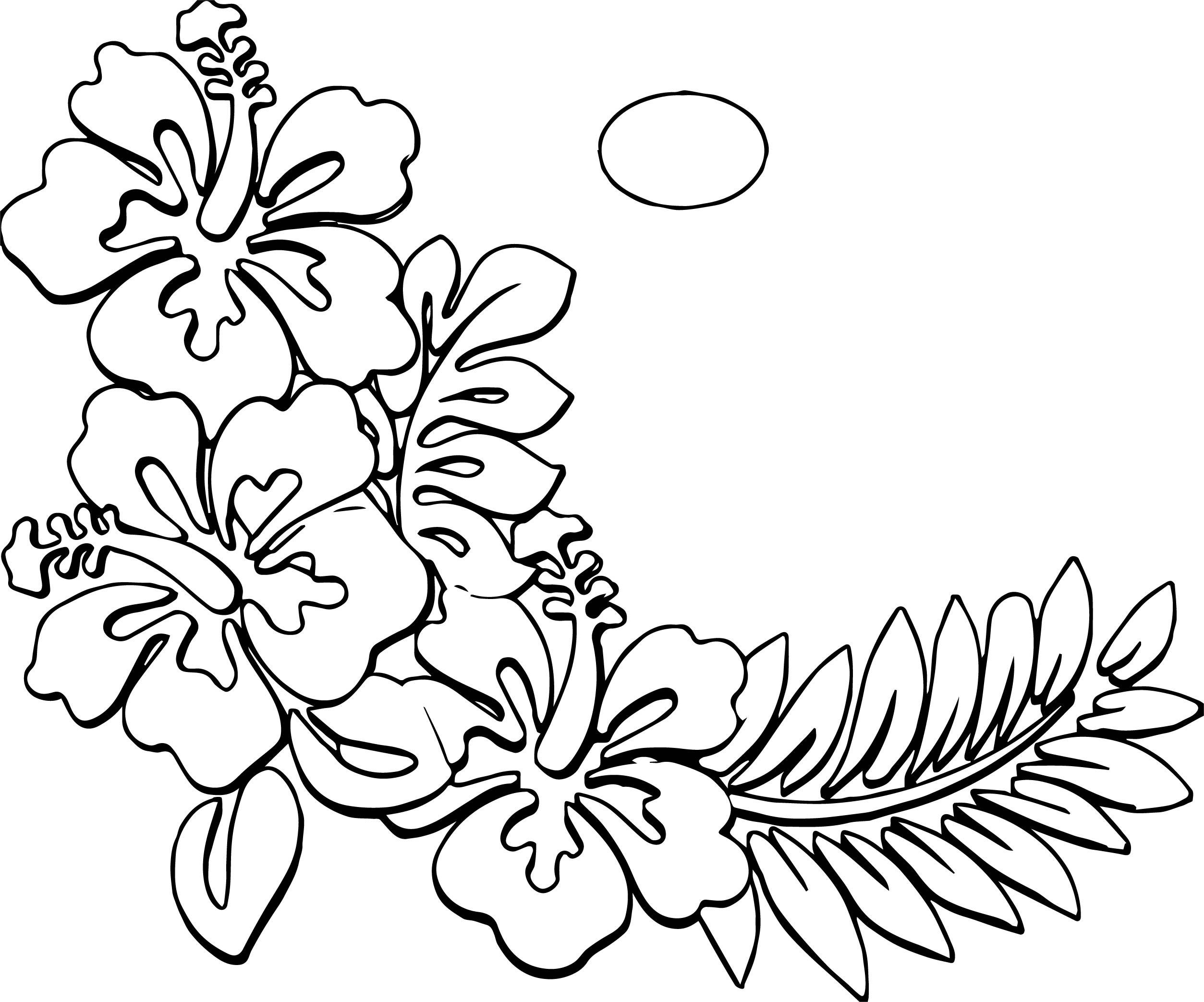 Hawaiian Flower Coloring Page WeColoringPage 18