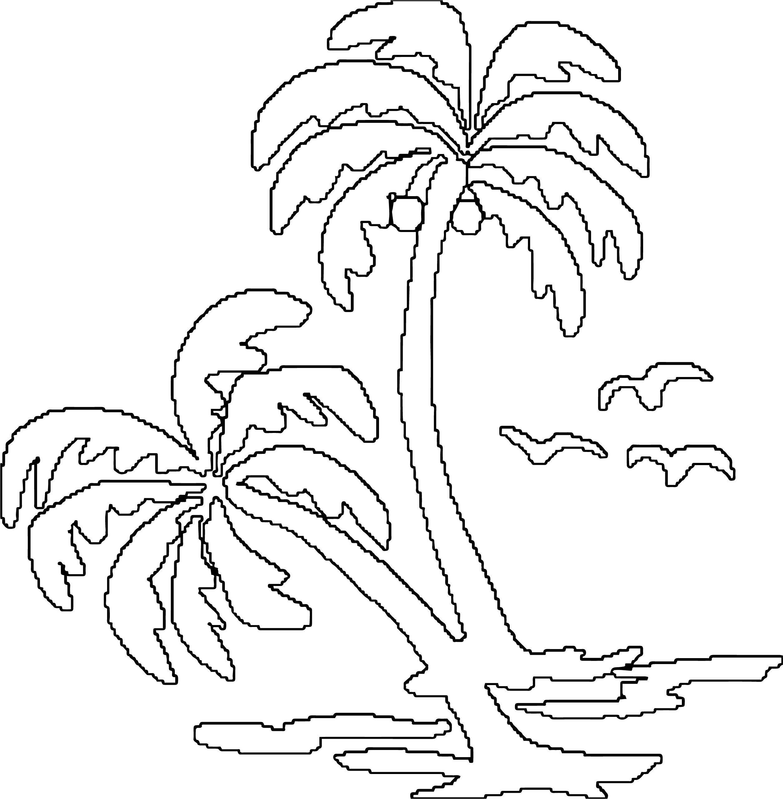 Hawaiian Tree Coloring Page WeColoringPage 5
